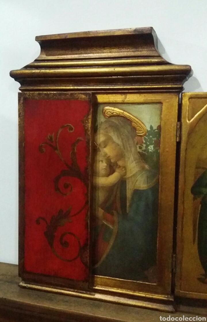 Antigüedades: Tríptico religioso - Foto 2 - 156447564