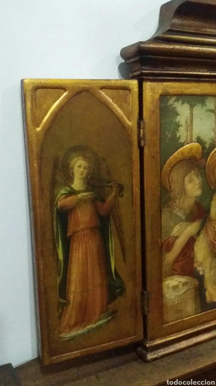 Antigüedades: Tríptico religioso - Foto 5 - 156447564