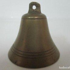 Antigüedades: ANTIGUO CAMPANILLA - BRONCE CINCELADA - BONITA SONIDO - S- XIX. Lote 156452126
