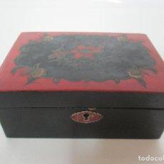 Antigüedades: ANTIGUA CAJA, CAJITA, JOYERO - MADERA Y LACA JAPONESA - IMPORTE DU JAPÓN - PRINCIPIOS S. XX. Lote 156465470