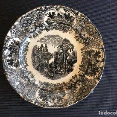 Antigüedades: PRECIOSO PLATO PARA COLGAR DE LA CARTUJA DE SEVILLA, PICKMAN, SELLO ANTIGUO, VER FOTOS. Lote 156467582