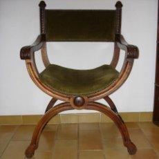 Antigüedades: PAREJA DE PRECIOSOS SILLONES JAMUGA FINAL SIXX, MALLORCA. Lote 156477346
