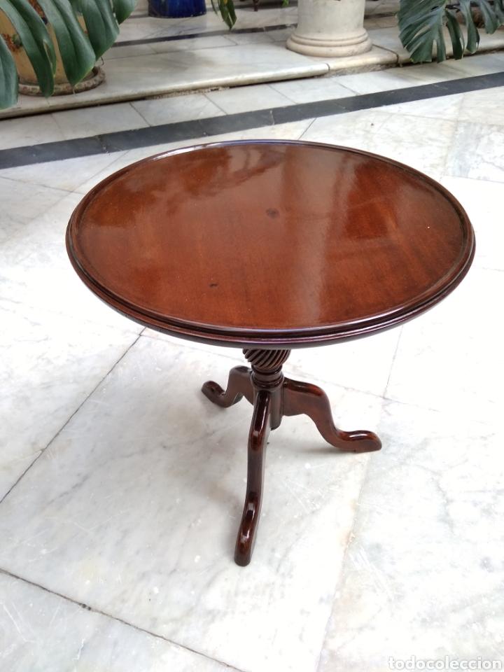 MESA CAOBA SIGLO XIX (Antigüedades - Muebles Antiguos - Mesas Antiguas)