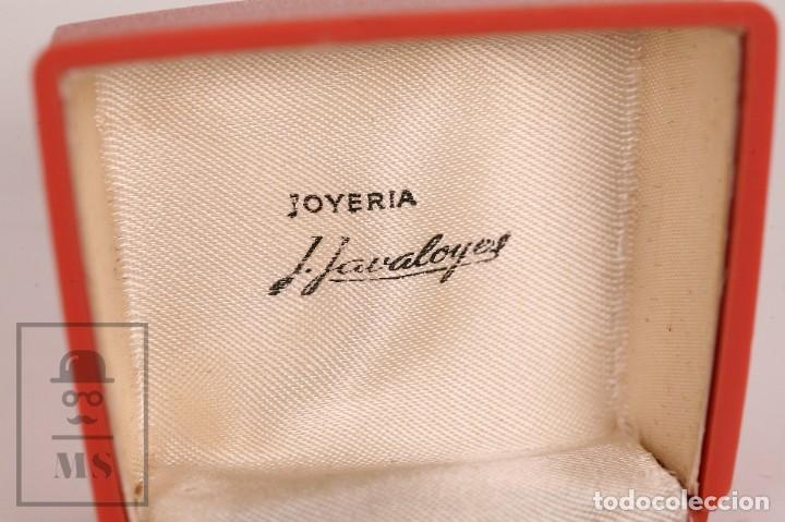 Antigüedades: Pareja de Gemelos Vintage Dorados - Joyería J. Javaloyes - Motivos Geométricos / Cuadrados - Foto 4 - 156492318