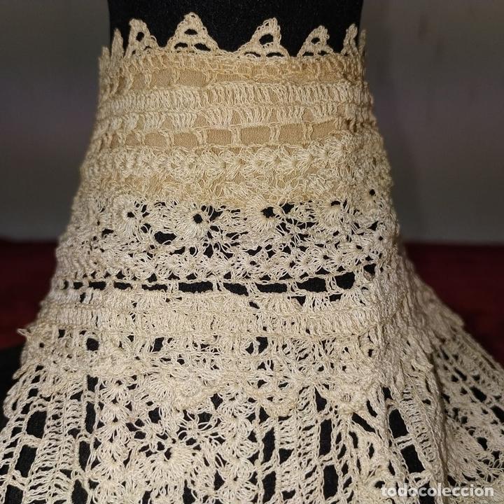 Antigüedades: CUELLO PARA TRAJE DE DAMA. ENCAJE DE BOLILLOS. ESPAÑA. CIRCA 1850 - Foto 2 - 156511386