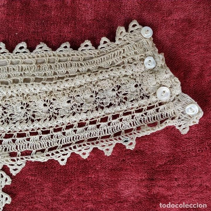 Antigüedades: CUELLO PARA TRAJE DE DAMA. ENCAJE DE BOLILLOS. ESPAÑA. CIRCA 1850 - Foto 9 - 156511386