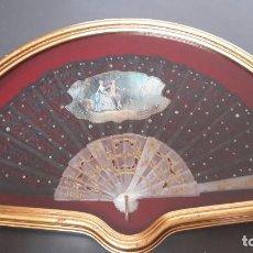 Antigüedades: ABANICO FIRMADO /// ABANIQUERA CON CRISTAL ///. Lote 156514818