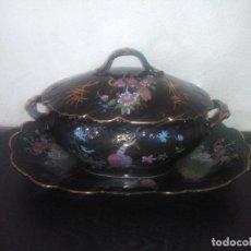 Antigüedades: PRECIOSA SOPERA CON PLATO VISTA ALEGRE PORTUGAL VINTAGE. Lote 156514882