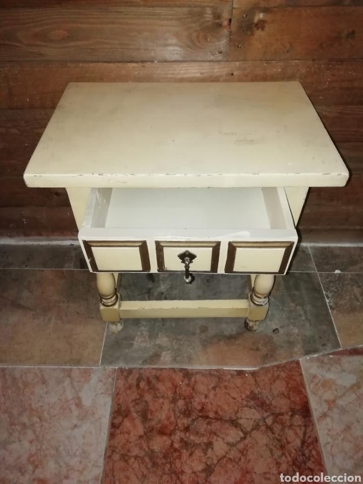 Antigüedades: Conjunto de cama antigua y mesita - Foto 5 - 156517525