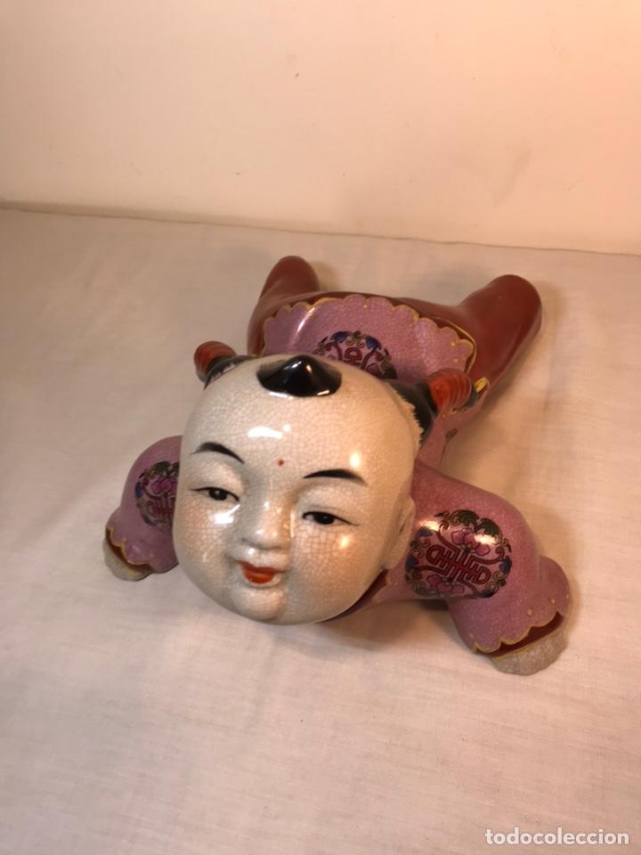 Antigüedades: Figura Porcelana- China- s. XX República - Foto 2 - 156518232