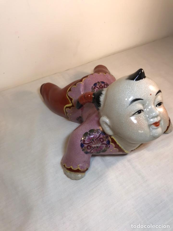 Antigüedades: Figura Porcelana- China- s. XX República - Foto 3 - 156518232