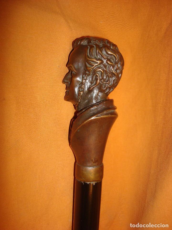 Antigüedades: BASTON BRONCE WAGNER - Foto 7 - 156520766