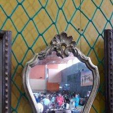 Antigüedades: ANTIGUO ESPEJO PAN DE ORO. Lote 156530366
