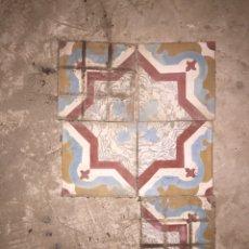 Antigüedades: MOSAICO HIDRÁULICO PINTADO A MANO DEL SIGLOXLX. Lote 156543418
