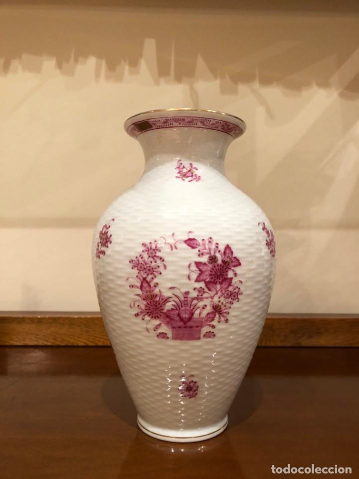 Antigüedades: Jarrón de porcelana húngara de Herend. Edición limitada y numerada. - Foto 2 - 156547930