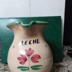 Antigüedades: JARRA DE ALFARERÍA TRADICIONAL PARA LA LECHE. . Lote 156553550