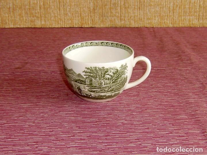TAZA DE PORCELANA WEDGWOOD OF ETRURIA Y BARLASTON ENGLAND-LUGANO. (Antigüedades - Porcelanas y Cerámicas - Inglesa, Bristol y Otros)