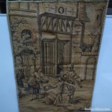 Antigüedades: ANTIGUO TAPIZ ESTANDARTE DE ESCENA GALANTE.. Lote 156559926