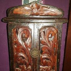 Antigüedades: JOYERO TALLADO EN TEKA. Lote 156568950