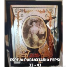 Antigüedades: ESPEJO PUBLICITARIO COCA COLA. Lote 156569058