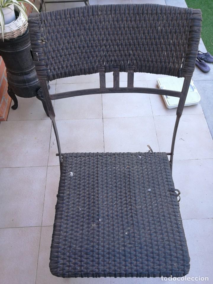 Antigüedades: 4 sillas y mesa de jardín - Foto 11 - 151968630