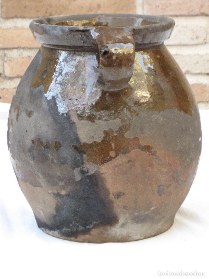 Antigüedades: ORZA ANTIGUA DE DOS ASAS EN CERAMICA VIDRIADA - MADRID. - Foto 4 - 156618618