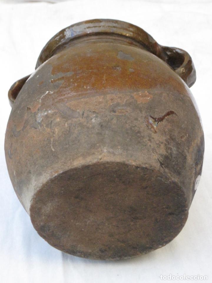 Antigüedades: ORZA ANTIGUA DE DOS ASAS EN CERAMICA VIDRIADA - MADRID. - Foto 7 - 156618618