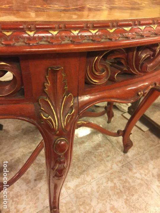 Antigüedades: Encantadora consola, con espectacular decoracion y acabado de la talla. Muy buen estado y tamaño. - Foto 5 - 160776521