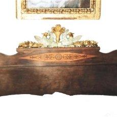 Antigüedades: CABECERO DE CAMA Y MESITAS ANTIGUAS. Lote 156633442