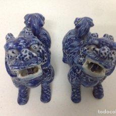Antiguidades: PAREJA DE PERROS CHINOS FOÓ. Lote 156665209