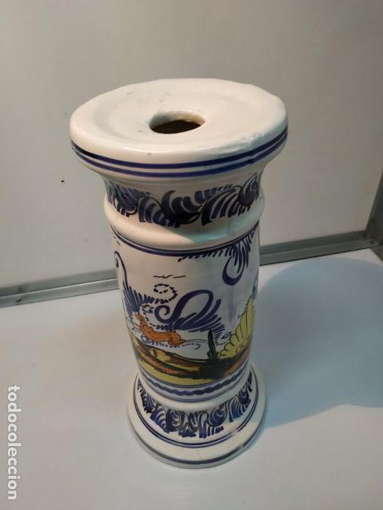 Antigüedades: pie o base en cerámica esmaltada macetero vintage - Foto 2 - 156672002