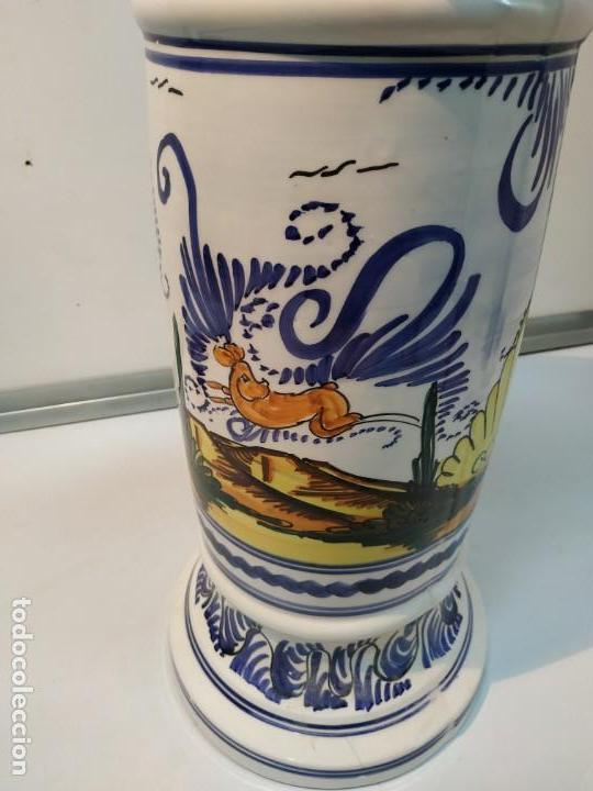 Antigüedades: pie o base en cerámica esmaltada macetero vintage - Foto 3 - 156672002