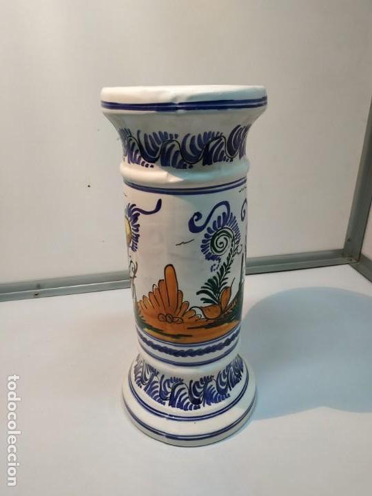 Antigüedades: pie o base en cerámica esmaltada macetero vintage - Foto 4 - 156672002
