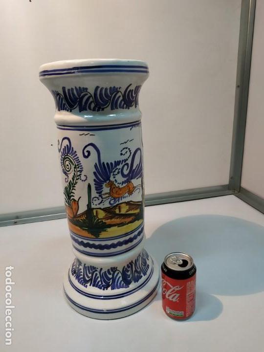 Antigüedades: pie o base en cerámica esmaltada macetero vintage - Foto 5 - 156672002