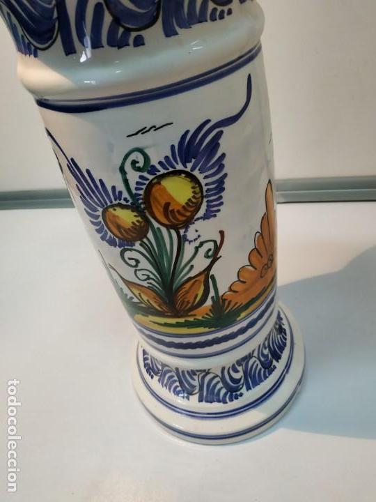 Antigüedades: pie o base en cerámica esmaltada macetero vintage - Foto 6 - 156672002
