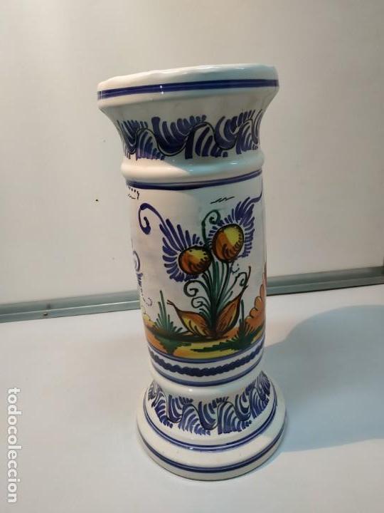 Antigüedades: pie o base en cerámica esmaltada macetero vintage - Foto 7 - 156672002