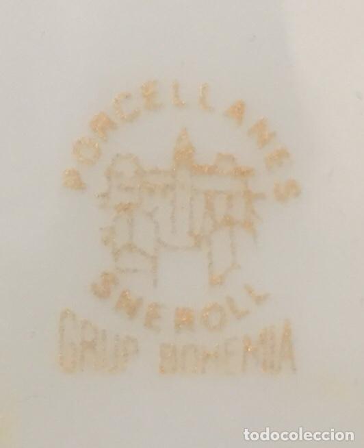 Antigüedades: Tetera forma de Gato Porcelanas SNEROLL Grup BOHEMIA Decorada al Oro - Foto 5 - 156676890