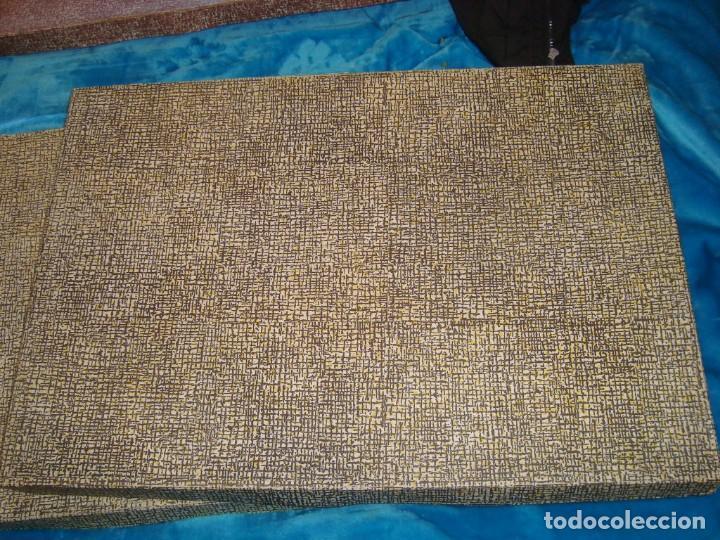 Antigüedades: ANTIGUAS SABANAS BORDADAS A MANO CON SU CAJA , NUEVAS PARA ESTRENAR - Foto 6 - 156714014