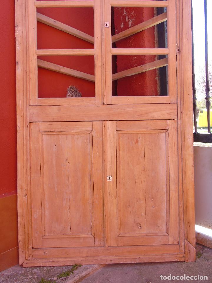 Antigüedades: ANTIGUO ESQUINERO DE MADERA, ESTRUCTURA. TOTALMENTE LIMPIO. - Foto 3 - 156715918