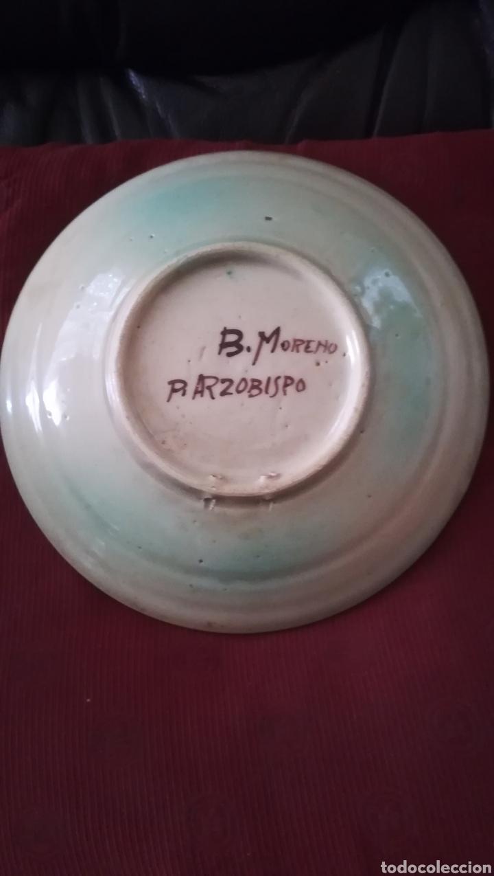 Antigüedades: Antiguo plato de cerámica de Puente del Arzobispo - Foto 2 - 156725976