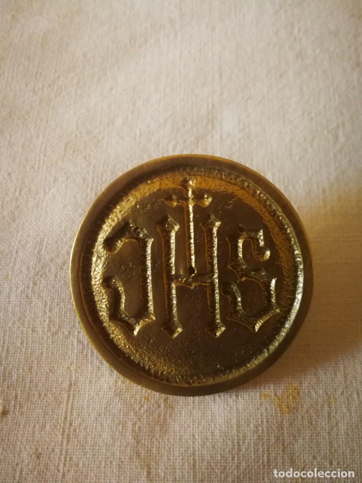 PRECIOSA PEZA EN BRONCE /METAL DORADO (Antigüedades - Religiosas - Orfebrería Antigua)