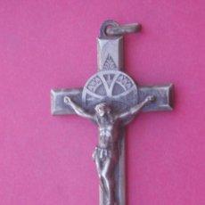 Antigüedades: CRUZ MEDALLA RELICARIO ANTIGUO SANTA TERESA DEL NIÑO JESÚS.. Lote 156756146