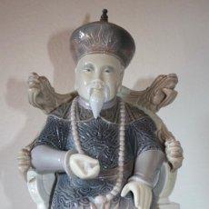 Antigüedades: FIGURA PORCELANA DE MARCA LLADRO DE 'MANDARIN' O EMPEROR CHINO. Lote 156757426