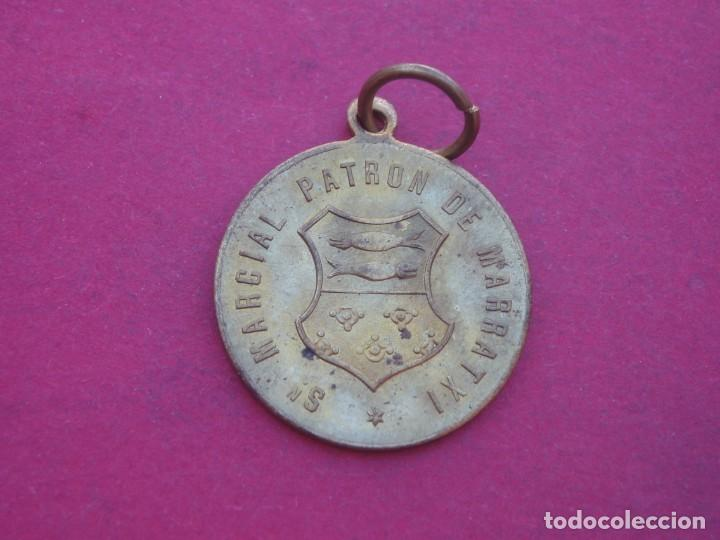 MEDALLA ANTIGUA SAN MARCIAL PATRÓN DE MARRATXI. MALLORCA. (Antigüedades - Religiosas - Medallas Antiguas)