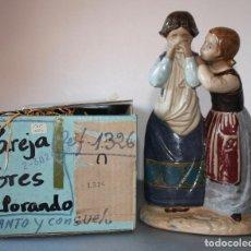 Antigüedades: FIGURA DE PORCELANA LLADRO NUEVA EN SU CAJA..DE DOS AMIGAS 'LLANTO Y CONSUELO'. Lote 156758614