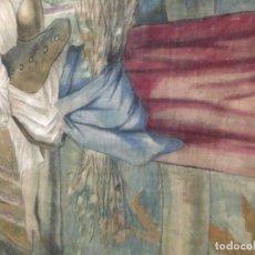 Antigüedades: BONITA ALFOMBRA O TAPIZ ANTIGUA PINTADA. Lote 156760458