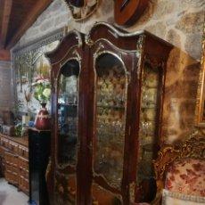 Antigüedades: VITRINA ISABELINA DE CAOBA. Lote 156761809