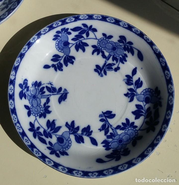 Antigüedades: Juego de 10 tazas y 10 platos SAN JUAN DE AZNALFARACHE, serie INDIA - Foto 3 - 156767494
