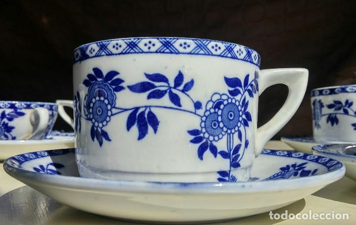 Antigüedades: Juego de 10 tazas y 10 platos SAN JUAN DE AZNALFARACHE, serie INDIA - Foto 6 - 156767494