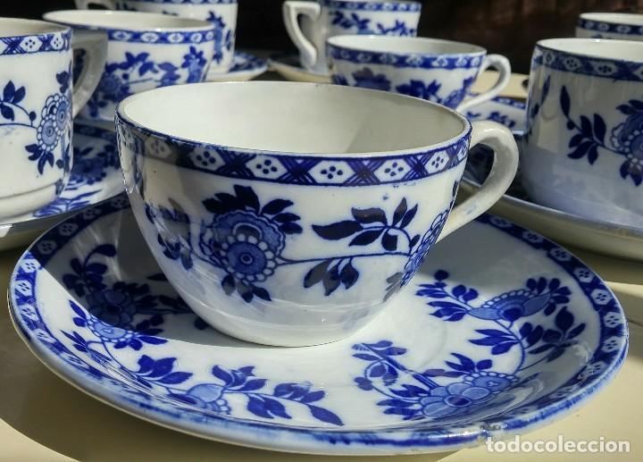 Antigüedades: Juego de 10 tazas y 10 platos SAN JUAN DE AZNALFARACHE, serie INDIA - Foto 7 - 156767494